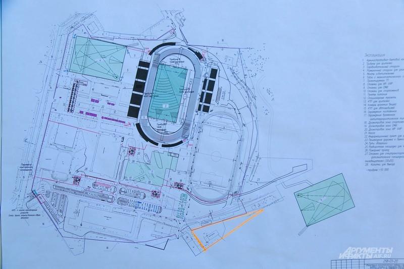 План реконструкции «Калиница» к Универсиаде