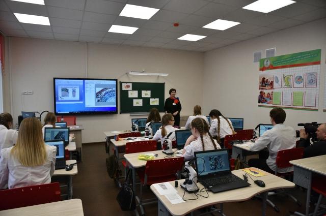 В школе №19 посёлка Новый Городок теперь есть восемь мобильных классов, оснащённых ноутбуками.
