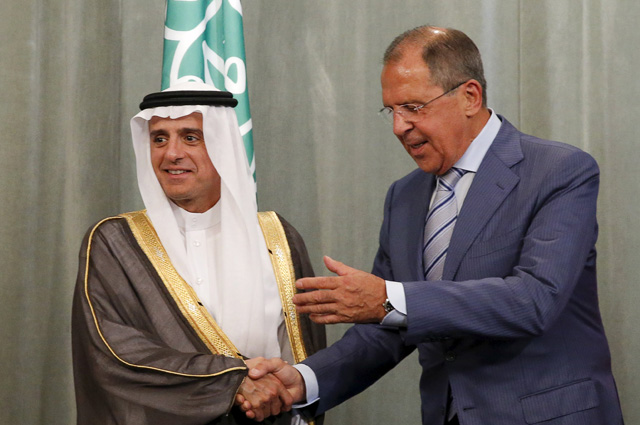 Встреча министра иностранных дел Российской Федерации Сергея Лаврова с министром иностранных дел Королевства Саудовская Аравия Аделем Аль-Джубейром