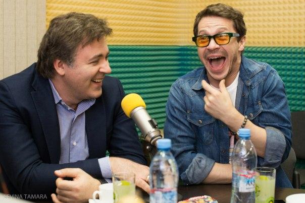 Дмитрий Дьяченко и Павел Деревянко на премьере в Челябинске.