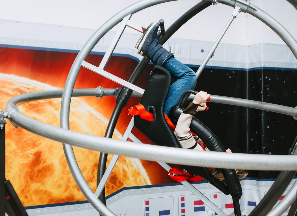 Посетители выставки смогут проверить свою выносливость на космических тренажёрах.