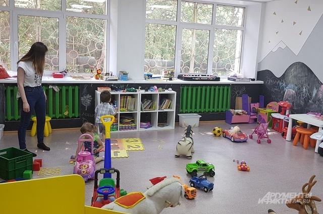 Детская комната, где можно оставить ребёнка на время консультации.