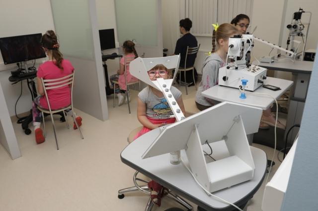«Школа зрения» в детском отделении.