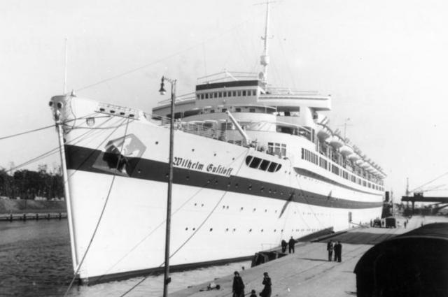 Wilhelm Gustloff как госпитальное судно. Данциг, 23 сентября 1939.