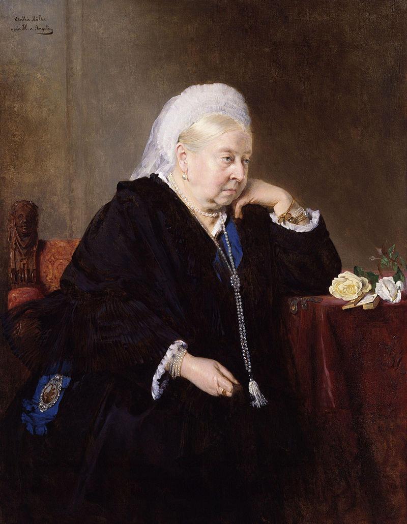 Королева Виктория в 80 лет, работа Генриха фон Ангели.