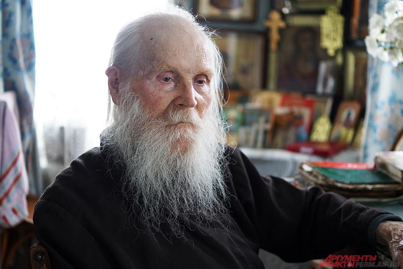 Самый старый житель Кунгура, 101-летний монах Никон был пострижен в великую схиму, высшую степень монашества