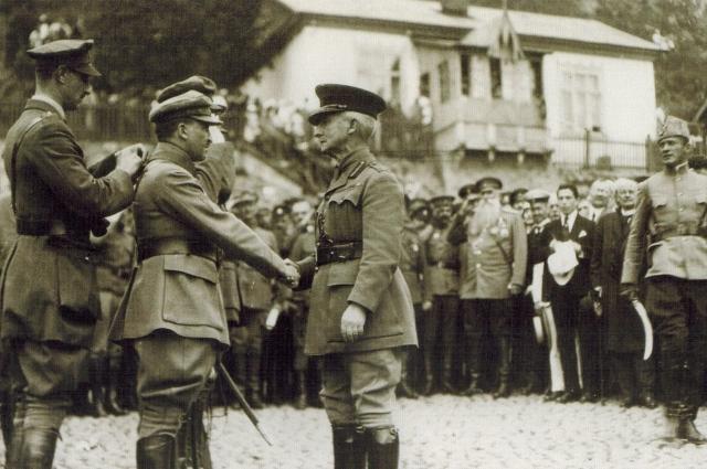 Вручение наград Чехословацким легионерам, Владивосток, июнь 1919 год.