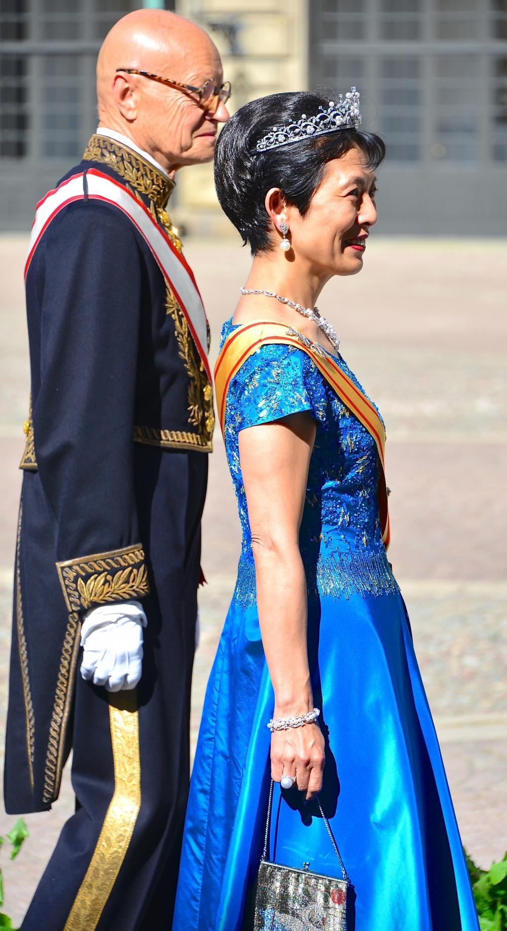 Принцесса Такамадо перед свадьбой принцессы Швеции Мадлен и Кристофера О'Нила в июне 2013 года