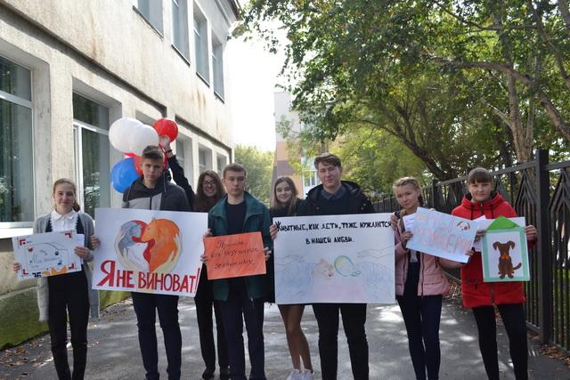 Школьники из Петропавловска провели благотворительную акцию в приюте для собак.