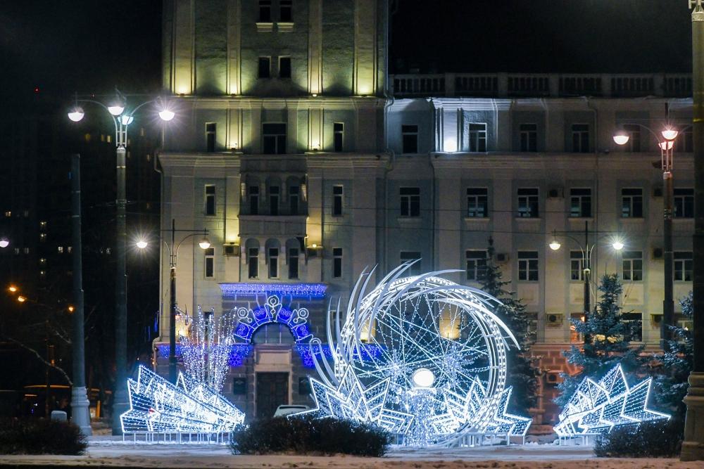 Город готов к встрече Нового года.