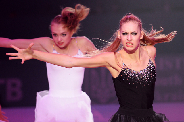 Анастасия Близнюк на гала-концерте в честь закрытия Чемпионата мира по художественной гимнастике в Киеве. 2013 год