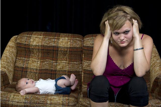 Мама, ребенок, усталость