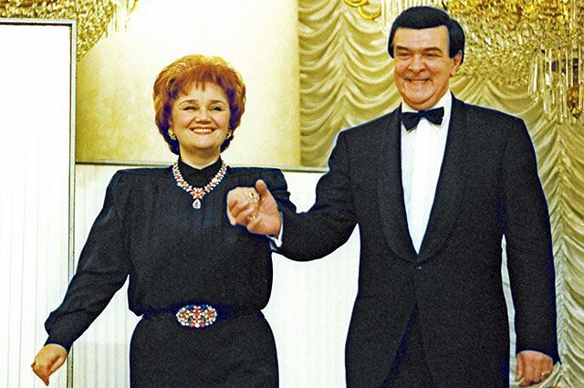 Тамара Синявская и Муслим Магомаев, 2002 г.