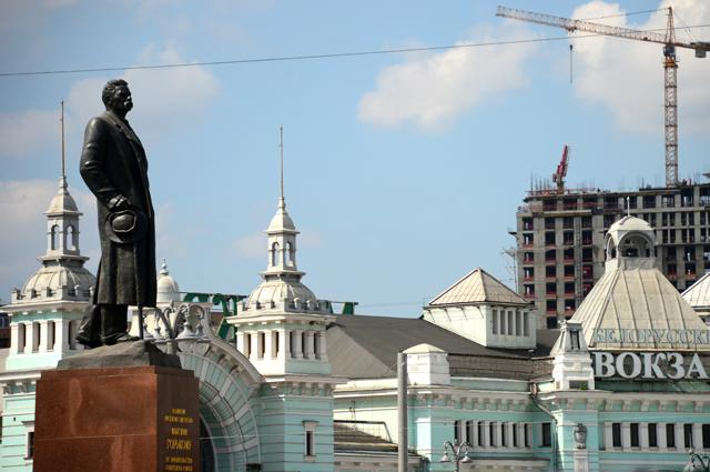 Памятник Максиму Горькому на площади Тверская Застава в Москве.