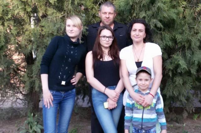 Людмила Тараканова со своей семьёй