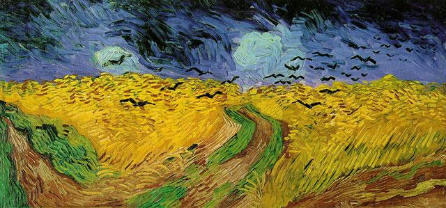 «Пшеничное поле с воронами», Винсент Ван Гог, 1890 г.