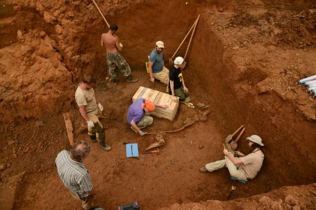 Палеонтологические раскопки в Оханском районе