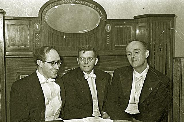 Мстислав Ростропович, Дмитрий Шостакович и Святослав Рихтер. 1968 год