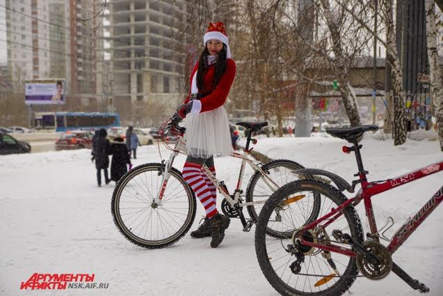 Юлия - постоянный участник велозаезда.