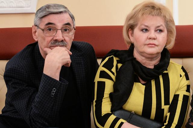 Александр Панкратов-Черный с женой. 2016 г.