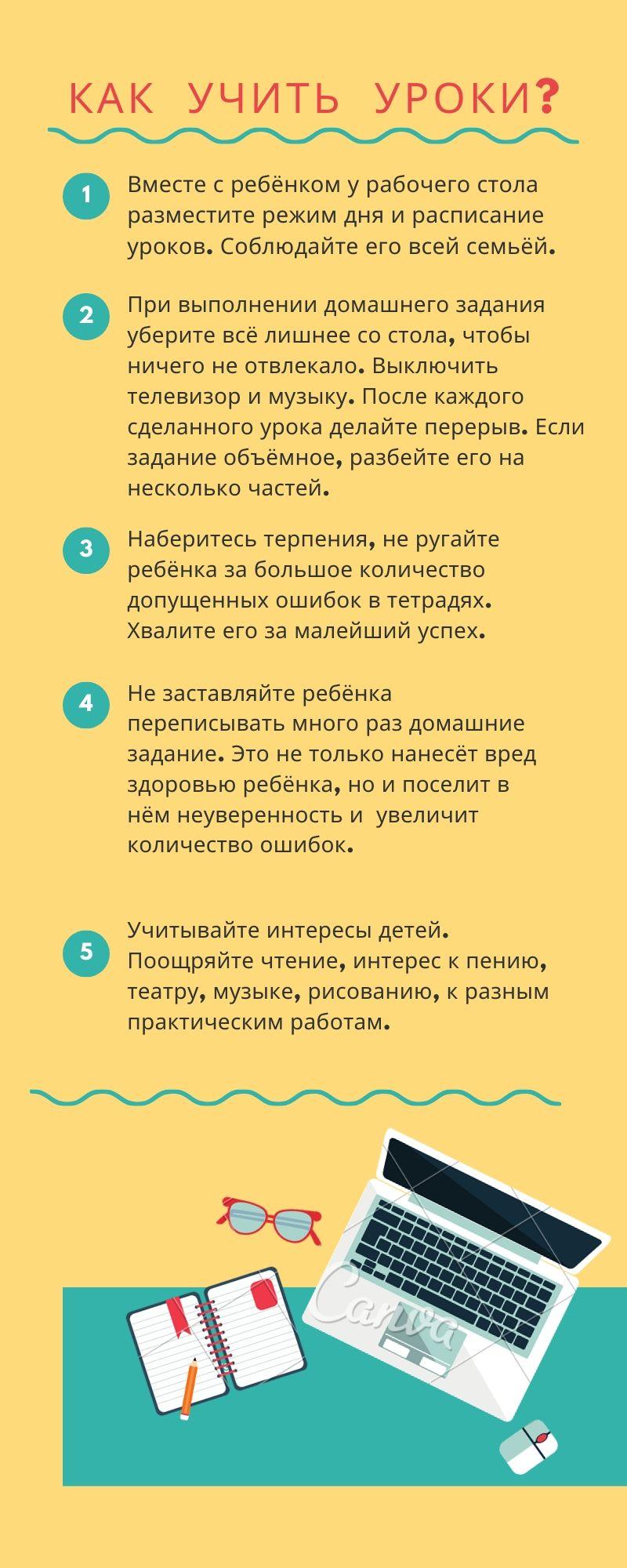 Как учить уроки