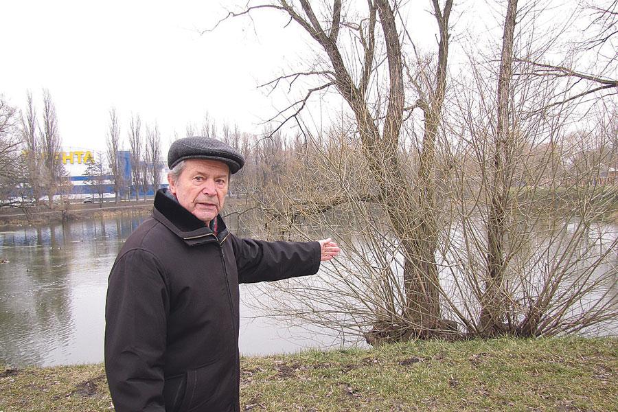 Чтобы парк стал суше, Николай Гатилов предлагает использовать разросшиеся ракиты для черенков.
