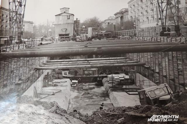 Так строили все подземные станции волгоградского трамвая (фото из музея истории волгоградского электротранспорта)