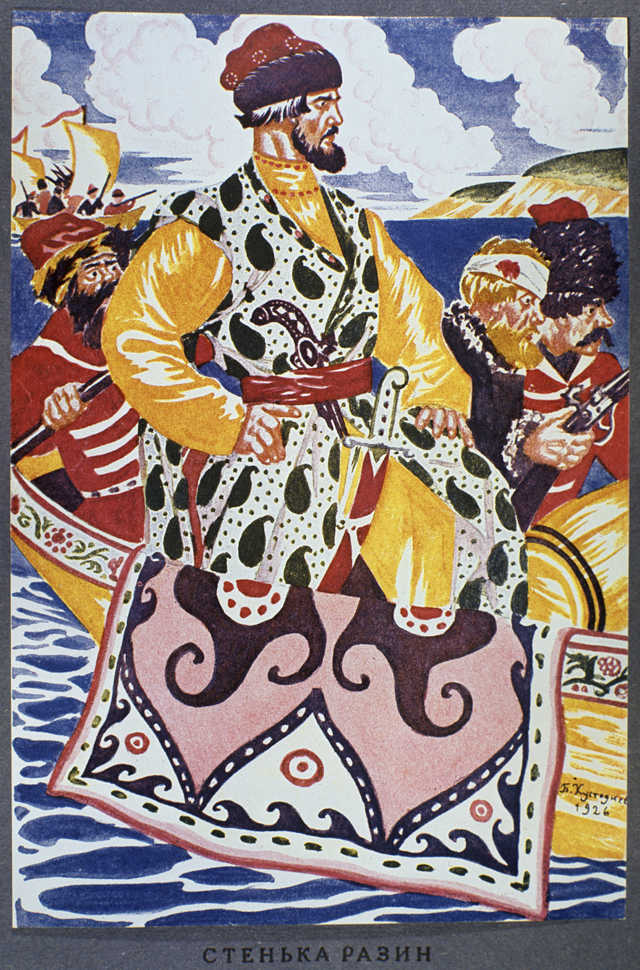 Картина «Стенька Разин», 1926год. Борис Михайлович Кустодиев (1878-1927).