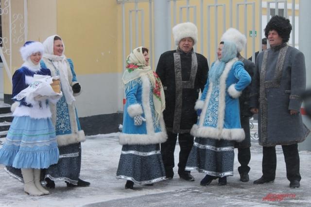 Встреча олимпийского огня в Оренбурге