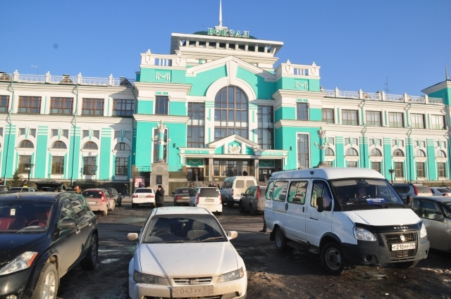 Омский вокзал.