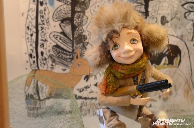 У всех кукол Медянцевой большие глаза.