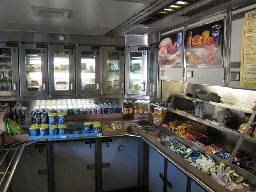 еда в поезде сша