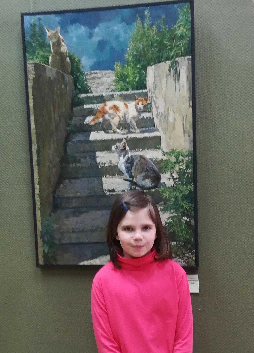 Детям нравятся городские коты.