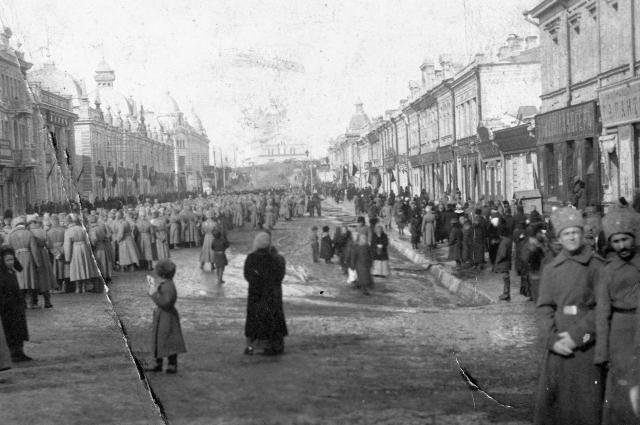 Омск в дни февральской революции 1917 года.