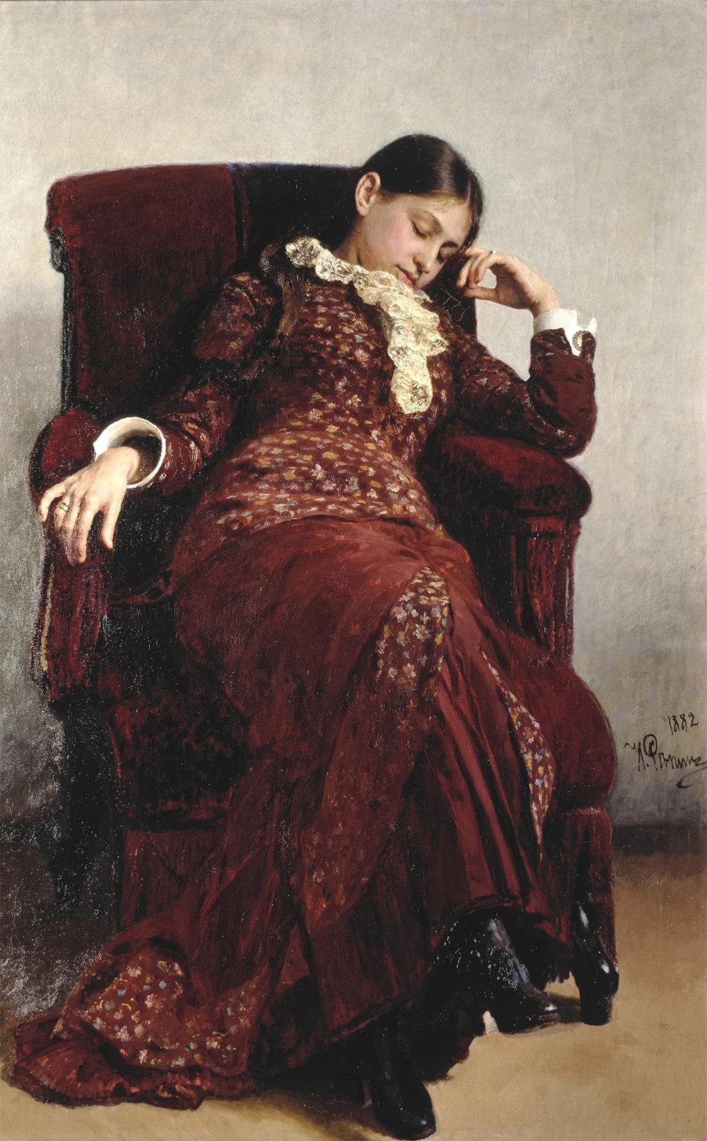 Среди 18похищенных шедевров была и жемчужина выставки– картина Ильи Репина «Отдых».