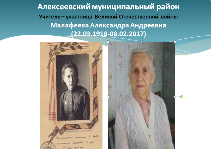 Старший сержант зенитно-артиллерийского полка Малафеева после войны 18 лет работала директором школы.