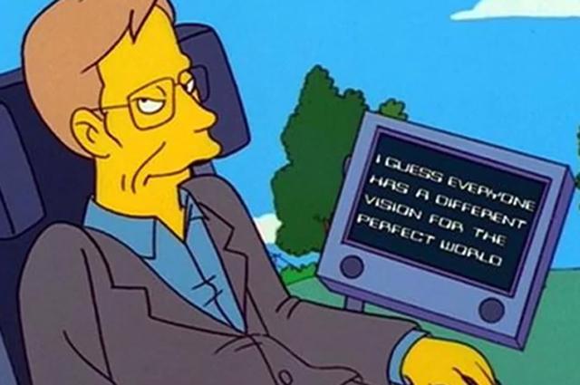 Стивен Хокинг в мультсериале Симпсоны