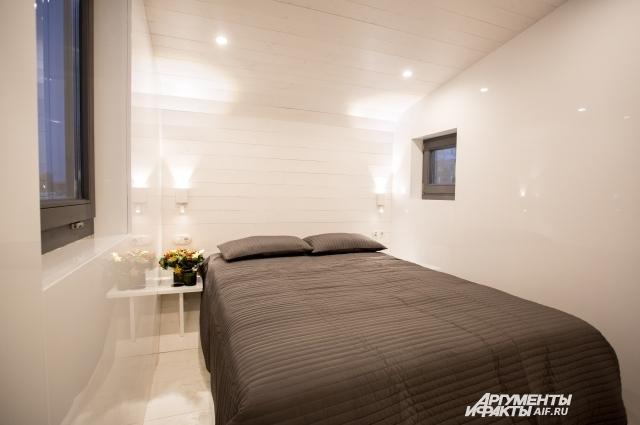Спальня в мобильном доме.