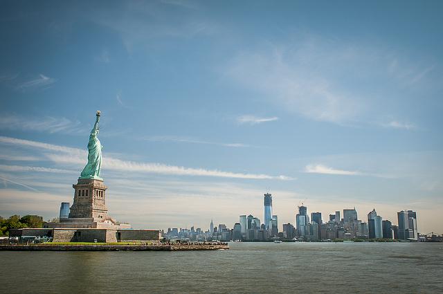 Нью-Йорк, статуя свободы