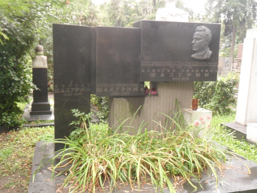 Могила Шахуриных на Новодевичьем кладбище.