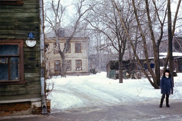 Самарский переулок, Мещанский район. Снимок сделан около 1973 года