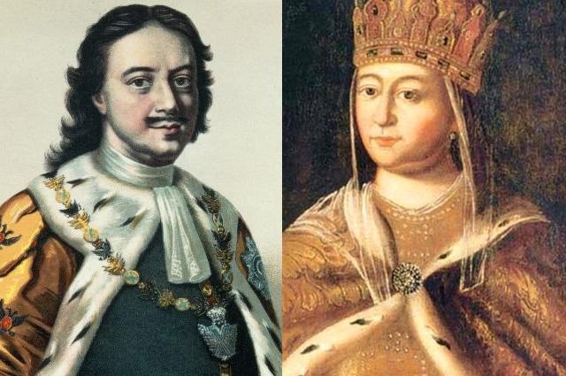 Петр I  и Евдокия Лопухина