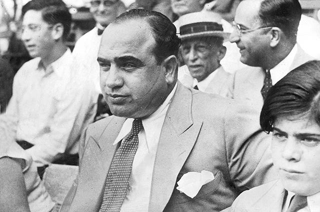 Аль Капоне с сыном, 1931 год