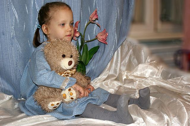 Аня первый подопечный ребёнок Натальи
