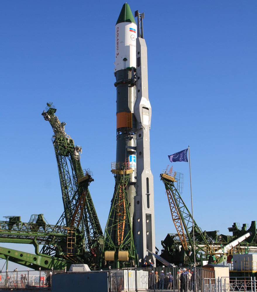 Ракета космического назначения «Союз-У» странспортным грузовым кораблем «Прогресс М-15М» настартовом комплексе российского космодрома «Байконур».