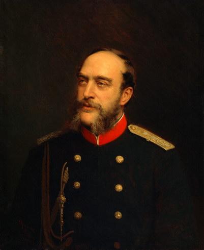 Портрет Георга, герцога мекленбург-стрелицкого, кисти Ивана Крамского.