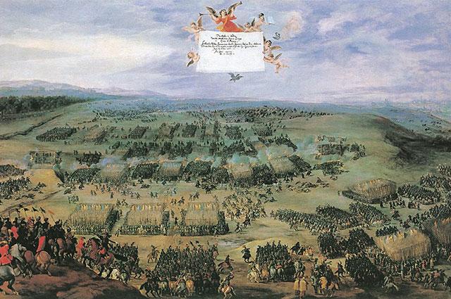 Битва на Белой Горе, (художник Питер Снайерс, 1620).