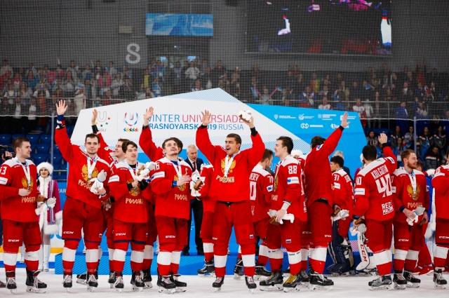 Золотую точку в Играх поставила сборная России по хоккею.