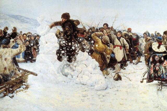 Взятие снежного городка (картина)