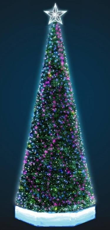 Макт пиксельное елки